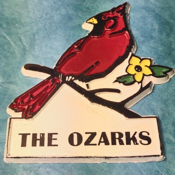 The Ozarks Vintage Cardinal Magnet